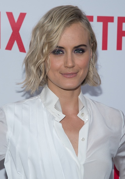 "NEW YORK, NY - AUGUST 11: Actress Taylor Schilling attends the ""Orange Is The New Black"" FYC Screening at the DGA Theater on August 11, 2015 in New York City. (Photo by Mark Sagliocco/Getty Images)"