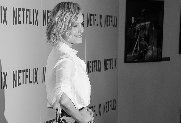 "NEW YORK, NY - AUGUST 11: (EDITOR'S NOTE: Image has been converted to Black & White) Actress Taylor Schilling attends the ""Orange Is The New Black"" FYC Screening at the DGA Theater on August 11, 2015 in New York City. (Photo by Mark Sagliocco/Getty Images)"